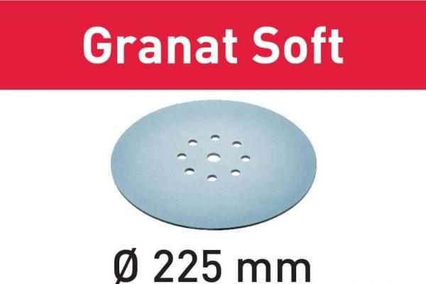 Festool Disco de lijar STF D225 P80 GR S/25 Granat Soft