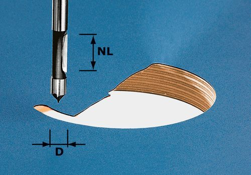 Fresa HW para perforar, vástago de 8 mm HW S8 D8/19