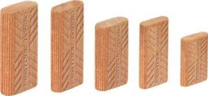 Tacos DOMINO de madera de sipo D 5×30/900 MAU