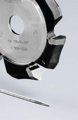 Fresa para ranuras en V HW 118×14-90°/Alu