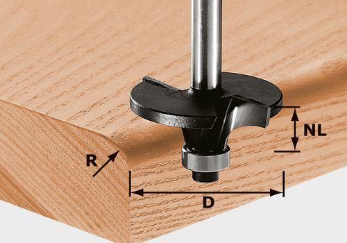 Fresa para perfiles radio HW, vástago 8 mm HW S8 D42/R6