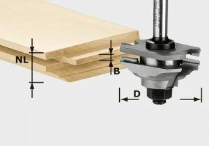Fresa de machihembrado y perfiles HW S8 D46 x D12-FD
