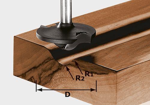 Fresa para perfiles HW, vástago 8 mm HW S8 D42/13/R6+12