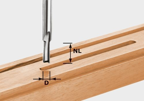 Fresa para ranurar de metal duro, filo de base, vástago 8 mm HW S8 D3/6