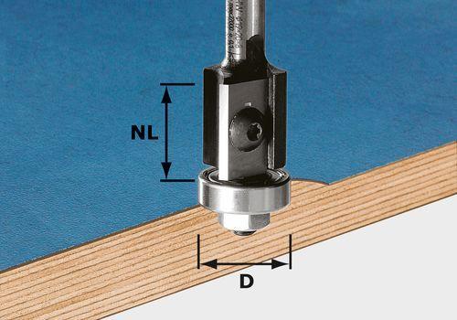 Fresa de cantos HW para placas reversibles, vástago de 8 mm HW S8 D19/20WM Z2