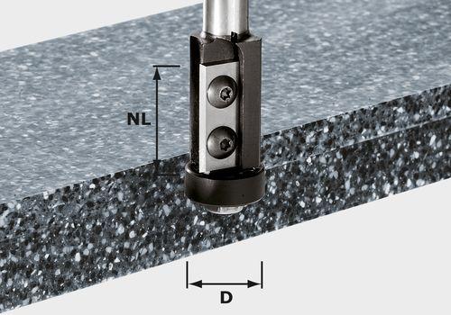 Fresa para enrasar de placa reversible HW, vástago 12 mm HW S12 D21/30WM