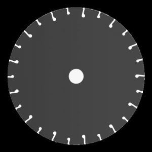 Disco de tronzar de diamante C-D 230 PREMIUM