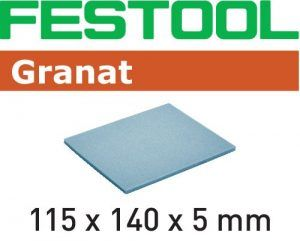 Almohadilla de lijado Granat 115x140x5 UF 1000 GR/20