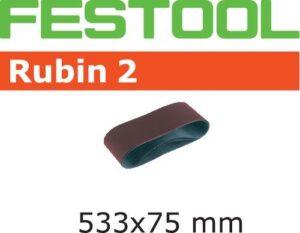 Banda de lijar Rubin 2 L533X 75-P80 RU2/10