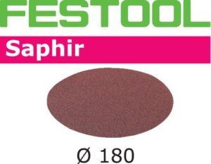 Disco de lijar Saphir STF D180/0 P80 SA/25