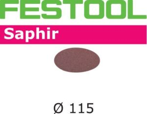 Disco de lijar Saphir STF D115/0 P80 SA/25