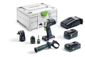Taladro atornillador a batería QUADRIVE DRC 18/4 5,2/4,0 I-Set-SCA