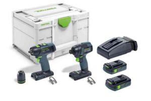 Set de taladro atornillador y atornillador de impacto TID 18 C 3,1-Set T18